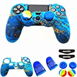 Silicone Skin Cover for Ps4 Controller (1pc Anti-Slip Case, 1 Pair L2 R2 Trigger...