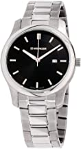 Wenger Men's 'City Classic' Swiss Quartz Stainless Steel and Leather Casual Watch