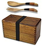 Wooden Bento Boxes, Bento Boxes for Adults, AOOSY Japanese Vintage...