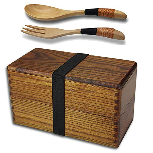 Your husband will love this unique traditional 5th anniversary gift idea - wooden bento box
