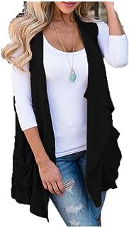 Lulupi Gilet Irregolare Modello Plaid da Donna Cappotto