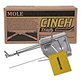 Cinch Mole Trap with Tunnel Marking Flag (Small) -SINGLE TRAP-Heavy-Duty, Reusable Rodent Trapping System | Lawn,...