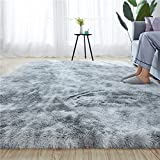 Rainlin Shaggy 6x9 Area Rug Modern Indoor Plush Fluffy Rugs, Extra Soft Comfy Carpets, Cute Cozy Area Rugs for Bedroom Living Room Girls Boys Kids, Grey