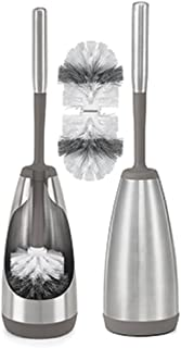 Polder Stainless Steel Toilet Brush Caddy, 2 Pack w/2 Additional Brush Heads