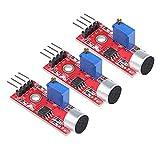 3 unids alta sensibilidad micrófono sensor AVR PIC módulo de detección de sonido con digital y analógico hacia fuera para Arduino DIY proyectos