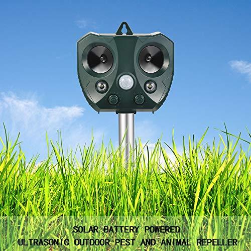 Ultrasone elektronische insecticide Outdoor Ultrasone Solar Animal Repeller Pest Mouse Repeller Sensor Vogel Hond Kat Fox Repellent Keep Dieren Away