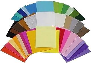 BESPORTBLE 40 peças, 40 cores, folhas de tecido não tecido, folhas coloridas de feltro não tecidas, quadradas de tecido de...