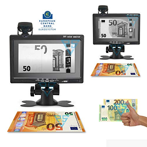 Rilevatore di banconote false Dispositivo Money Vision 7' Infrared Euro Dollaro
