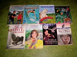 8 - Jean Craighead George - (Paperbacks) - 1000 (My Side Of The Mountain - The Summer Of The Falcon -(Signed Binding By Previous Owner) - There's An Owl In The Shower - One Day In The Tropical Rain Forest - Incredible Animal Adventures - Shark Beneath The Reef - On The Far Side Of the Moutain)