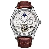 Reloj para hombre Las mejores marcas Reloj mecánico automático Reloj para hombre Relojes deportivos a prueba de agua Relogio Masculino Gift Hyococ (Color: Silver White)