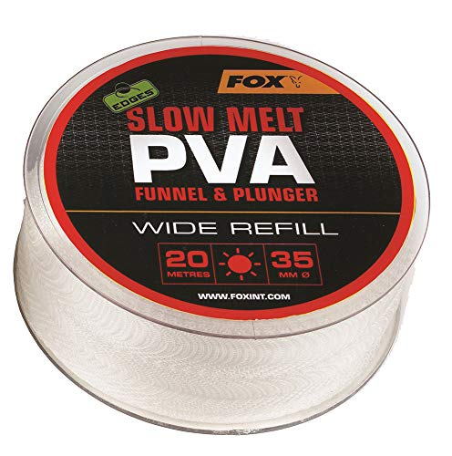 Fox Edges PVA Mesh Refill Slow Melt 20m - PVA-Schlauch für Fischfutter Zum Anfüttern von Karpfen & Friedfischen, Futterschlauch, Größe:35mm Wide