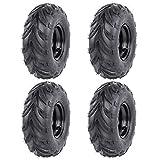 ZXTDR Set of Four 145/70-6 14x6-6 ATV Tires Wheels with Rims | Tubeless Tire for Go Kart UTV Quad Bike 4 Wheelers