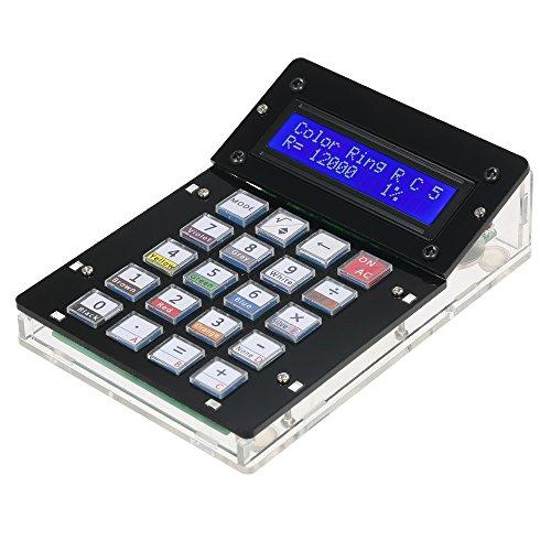KKmoon Taschenrechner-Bausatz mit Acrylgehäuse und LCD-Anzeige, multifunktionaler elektronischer Taschenrechner