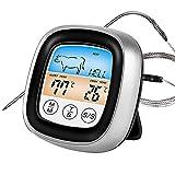 Fleischthermometer, Timer, Touchscreen-LCD-Fleischthermometer mit großem Display zum sofortigen...