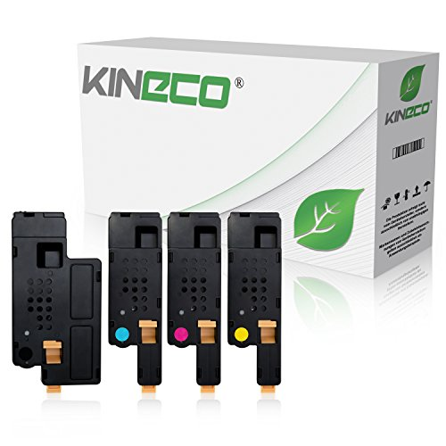4 Toner kompatibel mit Dell 1250c, 1350cn, 1355cnw, C1760nw, C1765nf, C1700 Series - Schwarz 2.000 Seiten, Color je 1.400 Seiten