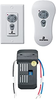 Sea Gull Lighting 16006-15 Ceiling Fan Combo Remote Control Kit, Non Dimming, Fluorescent, White