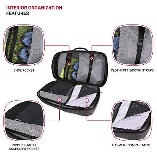SWISSGEAR Hybrid 15-inch Laptop Backpack | Travel, Work School | Men's and Women's - Heather Grey Large Version