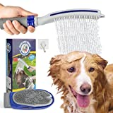 Dog Shower Sprayer Attachment for Bathtub, Dog Bathing Massaging Glove & Dog Shower Head with Dog Brush Flow Control for Pet Home and Outdoor Cleaning Bath