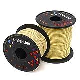 EMMAKITES 耐荷重 45kg / 100lb ケブラーライン 100%高強度軽量スーパーアラミド繊維 アウトドア ハイキング フィッシング カイト 糸 コード ブレードライン 編み糸構造