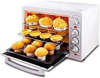 Horno de mesa multifunción de 33 L con temporizador, tostadas, horno y tres niveles de parrilla de convección natural, 1600 W de potencia, incluye bandeja para hornear y migas de pan