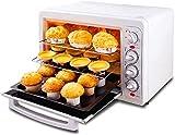 Forno da tavolo multifunzione con timer da 33 l, per pane tostato, cottura a 3 livelli, a convezione naturale, 1600 W, con teglia e briciole di pane.