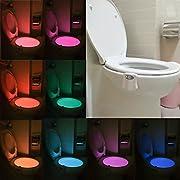Stoga T003 Motion Sensor WC Nachtlicht, LED Toilette WC Nachtlicht Bewegung aktiviert/Light Sensitive Automatische LED WC Nacht Motion Sensor Badezimmerlampe