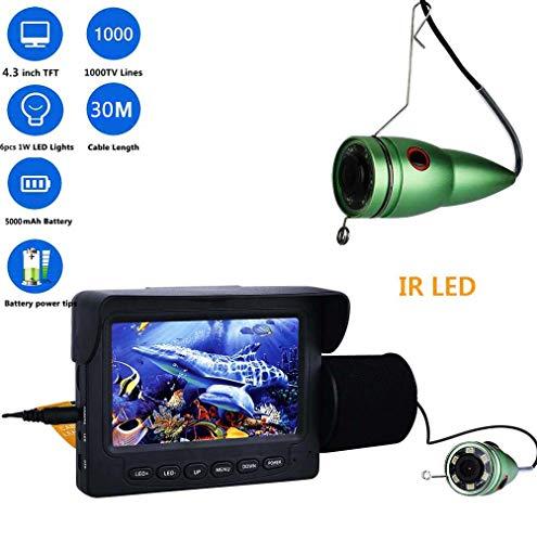 Fisch Finder Unterwasser Kamera, 4,3 Inch 1000tvl Angeln Video Kamera Kit Mit Sensor, 6PCS IR LED HD Nachtsicht Detektor Für EIS See Boot Angeln, IP68 Wasserdicht (15m Cable)