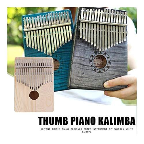 Kalimba, Daumenklavier 17 Keys Kalimba Thumb Keyboard Finger Piano African DIY hölzerne weiße Embryo Sanza Mbira Kalimba spielen mit Gitarre Holz Musikinstrumente