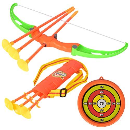 TOYANDONA 1 Juego de Arco para Niños Juguetes de Tiro con Arco de Colores Brillantes con Ventosas Objetivo de Flecha Y Carcaj para Adolescentes Principiantes Al Aire Libre
