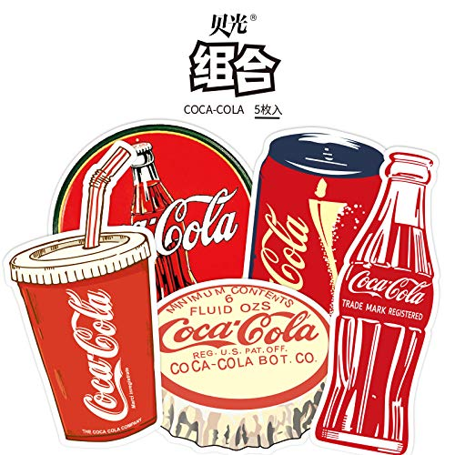 Cartoon Coca Cola koffer koffer draagbare sticker waterbeker koelkast waterdichte Sticker 5