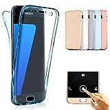 Vectady für Samsung Galaxy S9 Plus [NO für S9] Hülle, Case Handyhülle Silikon Hüllen TPU Gel Transparent Durchsichtig 360 Grad Schutz Vorne und Hinten Dünn Cover für Samsung Galaxy S9 Plus - Blau