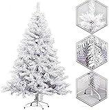 Restar Árbol de Navidad Artificial Extra Relleno Abeto Artificial Soporte Metá (120cm)