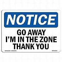 壁のアートデコレーションOSHA通知標識-私はゾーンにある私はゾーンにある金属標識通知警告安全保障サイン通り装飾