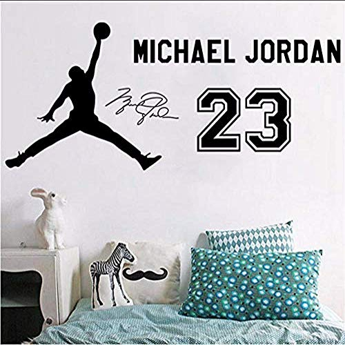 NBA Basketball Star Jersey Wall Stickers Student Dormitory Bedroom Bed Head Sofa Background Decorative Sticker 135 X 58 cm