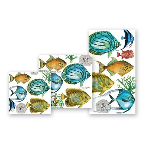 Michel Design Works Tropical Fish Luncheon Napkins, Package of 20, 3-Ply