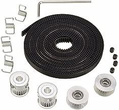Wangdd22 2pcs GT2 Pulley 20 Teeth Bore 5mm + 5m GT2 Timing Pulley Belt + 2pcs Idler +4pcs Belt Locking Spring for 3D printer RepRap