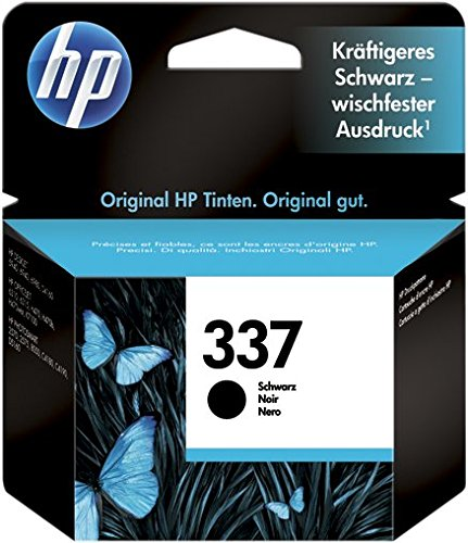 HP 337 C9364EE Cartuccia Originale per Stampanti a Getto di Inchiostro, Compatibile con Officejet, 7110 e K7100, Photosmart 8050, Deskjet 5940, 6620, 6540, 6940 e 6980, Nero