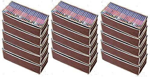 パッと見えるコミック収納袋5枚組×3セット たっぷり約450冊収納可能(ワイドサイズ漫画約300冊)整理整頓 大掃除に活躍!中身が分かる透明窓付き