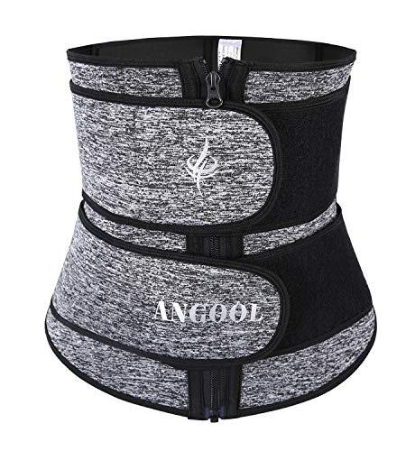 ANGOOL Women's Waist Trainer Belt with Zipper Neoprene Hot Sweat Corset for...