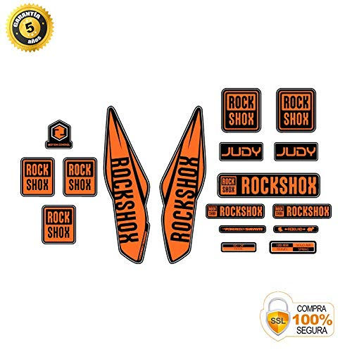 Aufkleber Gabel für Fahrrad Modell Gabel Rock Shox Judy 2017 Orange 29
