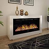 Noble Flame Ohio – moderner Design Elektrokamin Standkamin Kaminofen – LED Feuerambiente inkl....