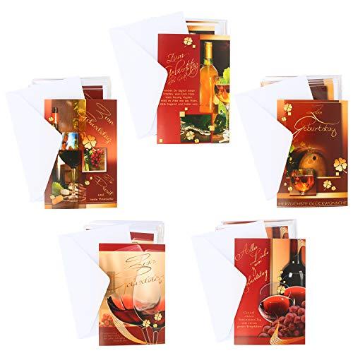 COM-FOUR® 100x wenskaarten voor verjaardagen - verjaardagskaarten met verschillende motieven - kaarten met enveloppen (Verjaardagskaart geesten - 100 stuks)