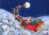 Aaubsk Puzzle 1000 Piezas Cuadro de Arte de la Serie 61 de la Pintura del Cartel de la Navidad en Juguetes y Juegos Gran Ocio vacacional, Juegos interactivos Familiares Rompecabezas50x75cm(20x30inch)