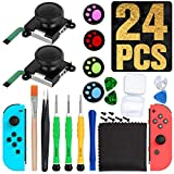 Joycon Joystick Replacement for Nintendo Switch Joy Con Grip Accessories, 3D Replacement Joystick, 24PCS-Include 2 Pack Switch Analog Thumb Stick,Tri-Wing,Cross Screwdriver,Pry Tools,4 Thumbstick Caps