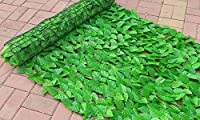 【LR.store】 グリーンフェンス 緑のカーテン 目隠し リーフフェンス フェイクグリーン リーフラティス ガーデンフェンス ハードネットタイプ 日よけ サンシェード (1m*3m, 1)