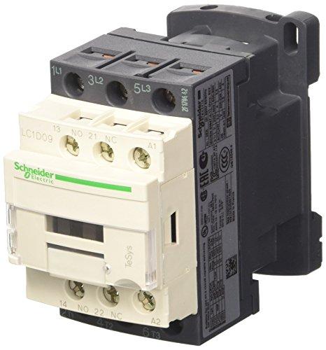 Schneider Electric LC1D09B7 TeSys D Contactor, 3P, AC-3, <=440V, 9A, Bobina 24VCA, 86mm x 45mm x 77mm