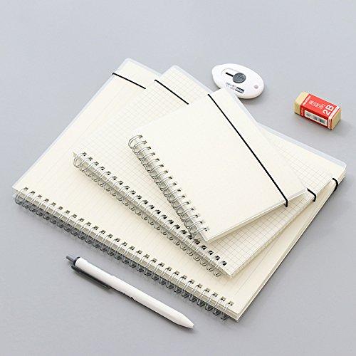 GOZAR 3 Stks Matte Transparant A5/A6/B5 Horizontale Lijn Hand Account Coil Book Pp Note Notebook Losbladig Plan Blank Boek