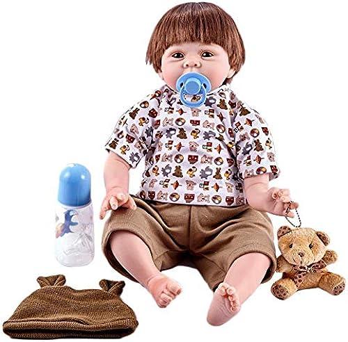 Hongge Reborn Baby Doll,Lebensechte Reborn Puppe Silikon Simulation Babypuppe 55cm