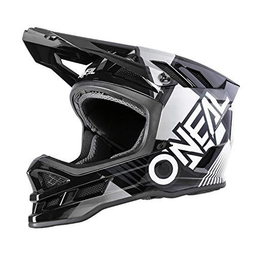 O'NEAL | Mountainbike-Helm | MTB Downhill | Dri-Lex® Innenfutter, Ventilationsöffnungen zur Kühlung, ABS Außenschale | Blade POLYACRYLITE Helmet Delta | Erwachsene | Schwarz Weiß | Größe L