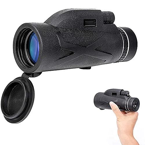 Toolbooth HD Telescopio monoculares con trípode, IPX7 Telescopio monocular Impermeable, monoculares compactos de 200x70 para observación de Aves Concierto de Senderismo de Caza